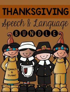 Thanksgiving Speech and Language Bundle