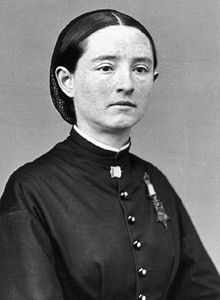 Dr. Mary Edwards Walker (1832-1919) was a field surgeon serving the Union Army; in 1864 she spent several months as a prisoner of war in Richmond. She was the only woman to receive the Medal of Honor for bravery in the American Civil War. She dressed in menswear for most of her adult life, including trousers and tophats.