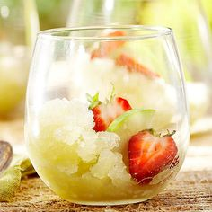 Our Green Apple-Chardonnay Granita recipe will please all of your guests: http://www.bhg.com/recipes/healthy/dessert/healthy-apple-desserts/?socsrc=bhgpin102313greenapplechardonnaygranita&page=8