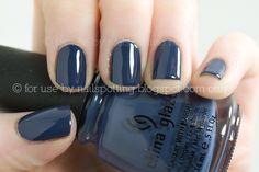 China Glaze 'First Mate'- I've never seen navy nail polish but I love it!