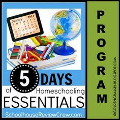 Golden Grasses 5 Days of Homeschooling Essentials- Program #homeschool #education #goldengrasses