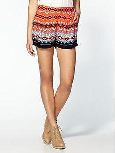 flowy shorts for the season - Sam & Lavi Daisy Zig Zag Print Shorts / Piperlime