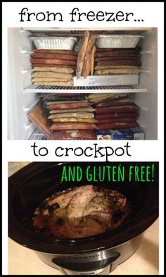 Never have to worry about what's for supper! From freezer to crock pot and gluten free.
