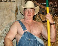 hot cowboy sitting barn