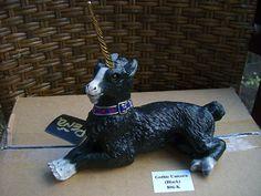 Windstone Editions M. Pena  Black Gothic Unicorn Statue