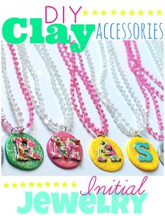 easy tutorial for monogram clay accessories