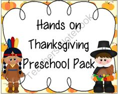 Here is a 104 page Thanksgiving preschool pack. It is full of hands on activities for your preschooler. Created by Creative Learning Fun. ($)