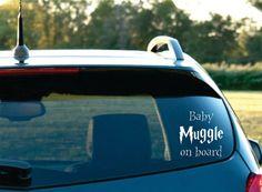 Harry Potter Inspired Baby Muggle on board Vinyl by NothinbutVinyl, $7.99