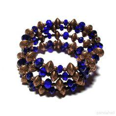 Handmade Vintage Style Memory Wire Beaded Bracelet | PandaHall Beads Jewelry Blog