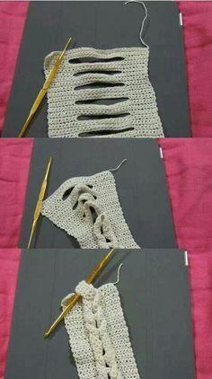 Easy crochet braid.