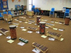 """Mallet Madness rotation with """"1,2,3,4 mallets get down on the floor 5, 6, 7, 8 careful don't be late!"""""""