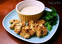 """Family Fresh Meals: Baked """"Fried"""" Pickles"""