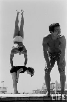 April Atkins, Muscle Beach Girl, by Loomis Dean, 1954