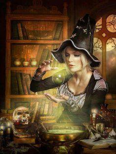 mystic, magic, bewitch, witchi, blondes, wicca, fantasi art, halloween art, crafts