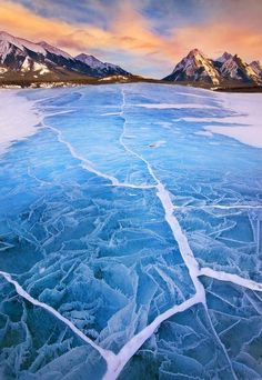 Lake Abraham in Winter by Long Nguyen, via 500px