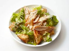 Light Chicken Caesar Salad from #FNMag #myplate #protein #grains #veggies #dairy