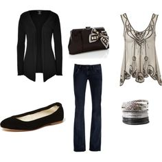 black and white, created by amber-lynns on Polyvore shirt