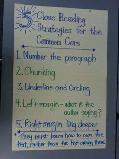 Close Reading astrategies