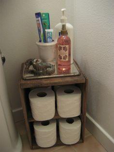 Caixote no banheiro