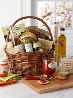 Make a customized gift basket for the foodie in your life. Start by finding a beautiful basket you love and add in speciality oils, crackers, dips and jams!