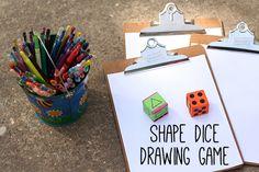 Kiddie dice roll drawing game