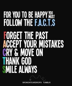 Follow the F.A.C.T.S. #trust #God #love #Jesus