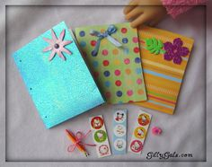 School Supplies 8 - custom made - American Girl Doll accessories - by Gilly Gals. $9.99, via Etsy.