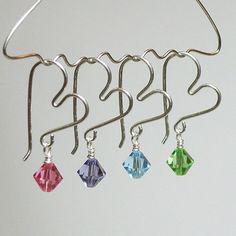 wire jewelry, heart earring, wire jewelri, jewelry crafts, crystal earrings, diy earrings wire, swarovski crystals, wire earrings with beads, heart wire