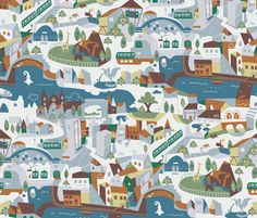 Basel (one day) fabric by theboerwar on Spoonflower