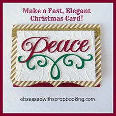 Make an Anna Griffin Cricut Winter Wonderland Peace Christmas Card!