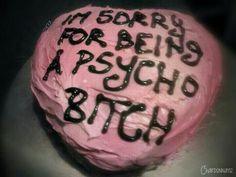 Sorry, an apologize cake