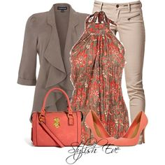 "Great fall colors! ""Noha"" by stylisheve on Polyvore"