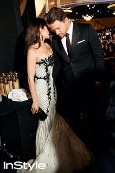 Photographer Art Streiber's Exclusive Photos From Backstage at the 2014 Golden Globes - Channing and Jenna DeWan Tatum.