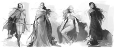 Sketch Set by `Charlie-Bowater on deviantART