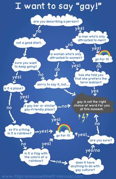 """""""I want to say gay"""" Flowchart"""