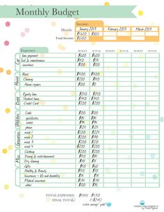 monthly budget printable instant download by ombreorganizers