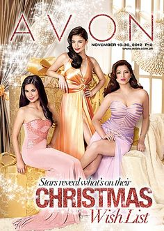 The Philippines' top beauties are only with the No. 1 Direct Selling Company in the country, Avon Philippines! Shop for your Christmas gifts and check out what's on Anne Curtis', Jasmine Curtis-Smith's, Angel Locsin's, Ruffa Guttierez', Lucy Torres Gomez', Alice dixon', and Shamcey Supsup's wish lists!    Check out our brochure for that and other great products! http://www.avon.com.ph/PRSuite/pr_ebrochure.page