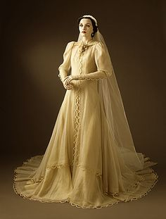 Gilbert Adrian   Woman's Wedding Dress and Veil, 1937