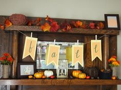 Fall Mantel - The Grant Life