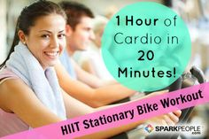 HIIT Workout: An Hour's Worth of Cardio in 20 Minutes! | via @SparkPeople #fitness #exercise #bike #interval