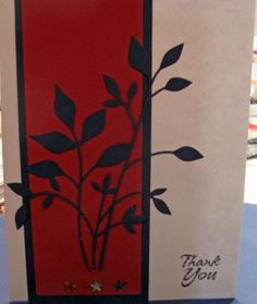 Fresh Foliage card in red, white, and blue.  Thank You card for some Honor Flight participants.
