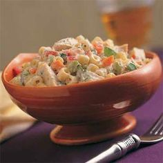 Summer Pasta Salads | Confetti Pasta Salad with Chicken | MyRecipes.com