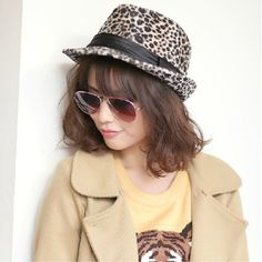 Women's New Style Sexy Leopard Jazz Hat