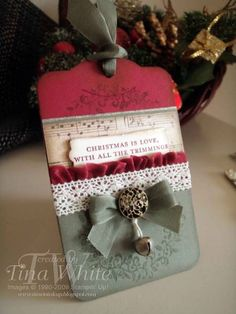 Christmas Tag by Tina.White - Cards and Paper Crafts at Splitcoaststampers