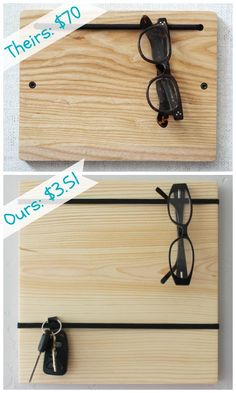Super cheap and easy wood organizer board.