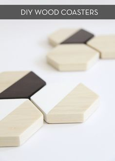 DIY wood hexagon coa