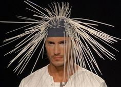 Porcupine Hat for Men- As if men weren't already painful enough to deal with... a kiss, porcupine, fashion hats