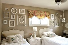like the idea of empty frames hung in a collage...