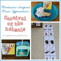 Montessori-Inspired Music Appreciation: Carnival of the Animals - Ideas for preparing and presenting activities to go with Carnival of the Animals classical music for kids