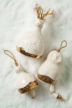 Sweet Sylvan Bell Ornament rabbit, holiday, bell ornament, sylvan bell, christmas decorations, anthropologie, white, homes, ornaments